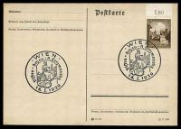 Lot 3316:1939 Visstra-Schau on 1938 3(pf) Breslau on plain Post Card.