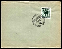 Lot 19154:1938 Hitler's Birthday WIEN/20.APRIL/1938/DES FUHRERS GEBURTSTAG' on 6rpf on plain cover, folded.