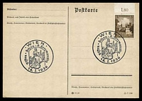 Lot 19155:1939 Visstra-Schau on 1938 3(pf) Breslau on plain Post Card.