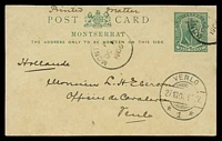 Lot 24948:1903 Badge HG #6 ½d green, 1906 philatelic use to Venlo, Holland.