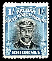 Lot 4513:1913-22 Admirals Double Plates Head Die II Perf 14 SG #233 1/- black & turquoise-blue, Cat £13, gum disturbance.