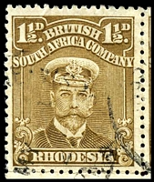 Lot 4102 [2 of 3]:1913-22 Admirals Single Plate Perf 14 SG #198 1½d bistre-brown block of 4, left 2 units with Joined ½.
