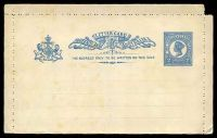 Lot 6790:1897 QV Bluish-Grey Paper HG #A2a 2d blue with paired perfs, TRC margin missing.