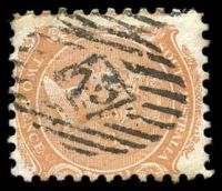 Lot 2082:75: on 2d orange DLR P10.  Allocated to Yankalilla-PO 1/10/1842.