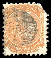 Lot 1303:135: on 1876 2d orange DLR P10 (faults).  Allocated to Arkaba-PO 23/11/1869; closed 1/2/1883.