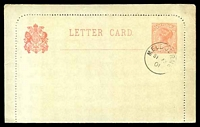 Lot 11425:1901 2d New Design QV Stieg #A14 rose on very pale gray, CTO of SE23/01, mild fading from light exposure.