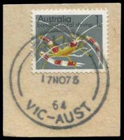Lot 12746:3rd Asian Oceanic Postal Union Congress: - 'RELIEF/17NO75/64/VIC-AUST' on 1c.  PO 17/11/1975; closed 18/11/1975.
