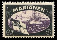Lot 69:German Mariana Islands: Lost Colonies mourning stamp, hinge remainder & shallow thin.