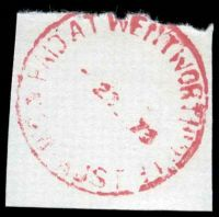 Lot 6499:Wentworthville: - 'PAID AT WENTWORTHVILLE/?73/NSW-AUST' in red.  PO 10/10/1890.