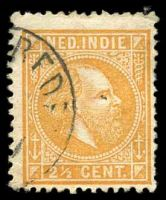 Lot 25885:1870-88 William III Perf 12½x12 SG #31 5c green, cancelled with double-circle 'WELTERVREDEN/11/7/886' (A2).