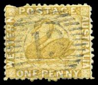 Lot 18346:13: on 1d bistre.  Allocated to Pinjarra-PO 1/1/1856.