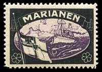 Lot 16:German Mariana Islands: Lost Colonies mourning stamp, hinge remainder & shallow thin.