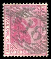 Lot 18743:16: on 1890 1d carmine.  Allocated to York-PO 16/6/1840.