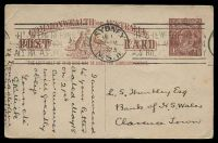 Lot 4114:1920-22 1½d Red-Brown KGV Sideface - Footnote Deleted BW #P52 cancelled with Krag 'SYDNEYJE1/2-PM/1923/N.S.W - BRITISH EMPIRE EXHIBITION/LONDON APRIL 1924/AUSTRALIA'S OPPORTUNITY