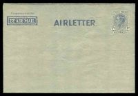 Lot 4337:1945-50 7d KGVI New Layout BW #A3A 7d blue on grey 'AIRLETTER', vertical fold.