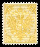 Lot 20335:1879-1900 Numerals At Top Type I Perf 12½-13 SG #26 2k orange-yellow, Cat £13