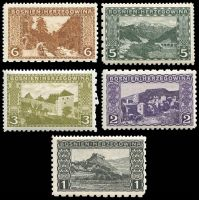 Lot 3716 [2 of 2]:1906 Pictorials Perf 12½, 9½ & 6½ Compound SG #186-90E,192-5E 1h to 35h excl 10h, Cat £70+. (9)