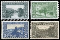 Lot 3716 [1 of 2]:1906 Pictorials Perf 12½, 9½ & 6½ Compound SG #186-90E,192-5E 1h to 35h excl 10h, Cat £70+. (9)