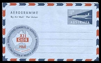 Lot 3809:1959 12th International Congress of Scientific Management BW #A14 10d dark blue Jet on light blue paper, '12th INTERNATIONAL CONGRESS OF SCIENTIFIC MANAGEMENT'.