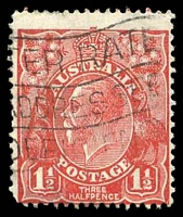 Lot 2706:1½d Red Die II - double spur on right corner of crown top [1L5]