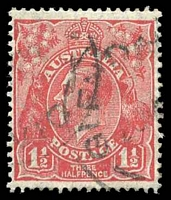 Lot 2709:1½d Red Die II - BW #92(1)h [1L50] cut upper left frame.
