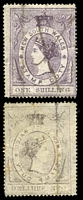 Lot 899:1865-66 Stamp Duty: 1/- violet on very thin paper. [Rated R1]