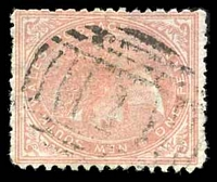 Lot 918:1: 1st BN on 1d dull red DLR. [Rated 3P]  Allocated to Ryde-Renamed from Kissing Point PO c.1846.
