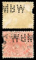 Lot 9989:Metropolitan Board Of Works: 'MBW' type #MBW.1 on 1d pink (faults).