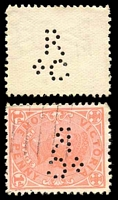 Lot 9990:Rolf & Co: 'R/&C' type #R&C.1 on 1d pink.