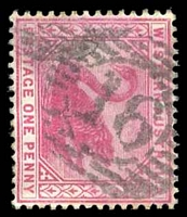 Lot 17755:16: on 1890 1d carmine.  Allocated to York-PO 16/6/1840.