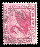 Lot 16066:8: on 1890 1d carmine.  Allocated to Fremantle-PO 4/12/1829.