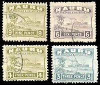 Lot 4183 [1 of 2]:1924-38 Ship Smooth Paper SG #26-36B set to 9d excl 1d, 2d & 5d, Cat £70. (7)