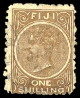 Lot 3717:1881 1/- Deep Brown Perf 10 SG #64a Cat £32.