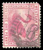 Lot 18745:16: on 1890 1d carmine.  Allocated to York-PO 16/6/1840.