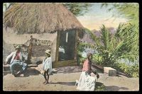 Lot 497:Jamaica: Valentine's coloured PPC of 'A NEGRO HUT, JAMAICA', unused.