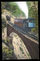 Lot 674:Switzerland: Goetz coloured PPC of 'Pilathusbahn' showing train on furnicular railway on bridge, unsed.