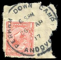 Lot 629:1917 skeleton 'PERHAM DOWN CAMP/6.15.PM/26AP/17/ANDOVE[R]