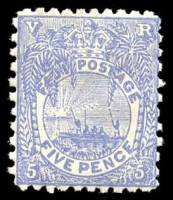 Lot 3918:1891-1902 New Designs Perf 11x10 SG #85 5d ultramarine, Cat £16.