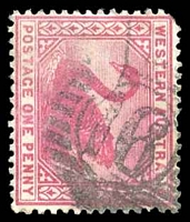 Lot 17757:16: on 1890 1d carmine.  Allocated to York-PO 16/6/1840.