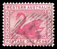 Lot 2979:17: on 1890 1d carmine.  Allocated to Australind-PO 14/4/1842; closed 31/12/1962.