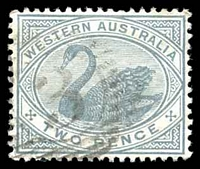 Lot 15566:3: on 1890 2d grey.  Allocated to Ashburton-PO c.-/8/1884; renamed Onslow PO 26/10/1885; renamed Onslow South RO 27/7/1925.