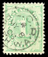 Lot 383:1902-04 Design Completed Wmk Crown/NSW BW #D42 1/- P11½-12x11½, Cat $20.