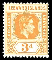 Lot 3803:1938-51 Definitives SG #107 3d orange chalk paper, Cat £35, brown gum.