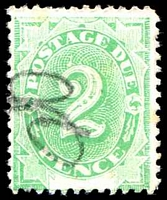 Lot 818:1902 Converted NSW Plates BW #D5 2d P11½-12, Cat $30, with prominent White flaw above 2, pencil cancel.