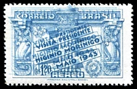Lot 3554:1943 Morinigo Visit 1.20cr grey-blue Double print.