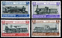Lot 4001:1933 Railway Congress SG #189-92 set of 4, Cat £60, hinge remainders.