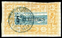 Lot 21472:1900 Surcharges 5c on 40c, SG #114 CTO with gum, minor adhesions.