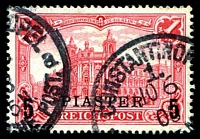 Lot 4101:1900 Sans-Serif Surcharges Mi #20Ia 5pi on 1m red, Cat €50.