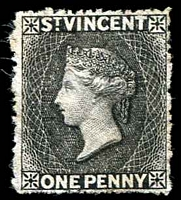 Lot 27756:1871 Wmk Small Star Rough Perf 14-16 SG #15 1d black, Cat £60 as mint.
