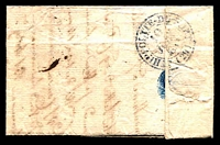 Lot 21299 [2 of 2]:1833 stampless entire cancelled with double-circle '[?]E VIGAN[DE]/10/JUIN/[1833]/(29)' (B2), nice blue double-circle 'ST HIPPOLYTE-DU-FORT